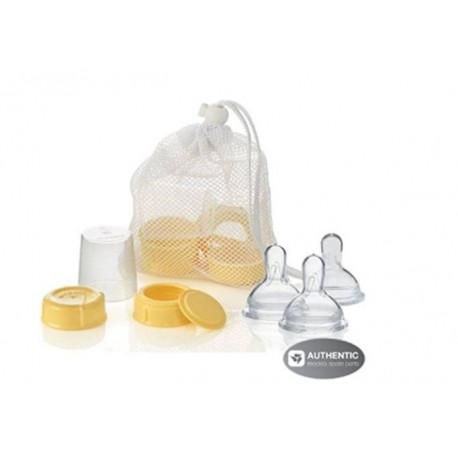 Medela Breastmilk bottle spare parts with 0-4 months nipples