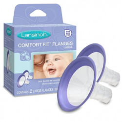 Lansinoh 2-Pack Large ConfortFit Flanges