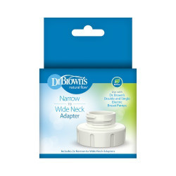 Dr. Brown's Narrow to Wide Neck Adapter for Electric Breast Pump, 2pk
