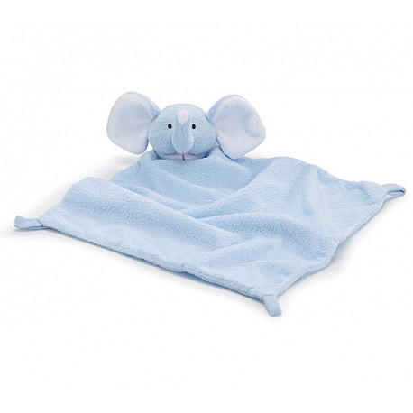 Blue Baby Boy Elephant Security Blanket for Baby