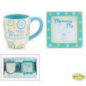 """New Mom Need Coffee"" Gift Set with Coffee Mug And Photo Frame Boy"