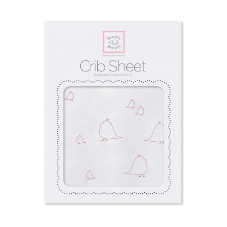 swaddle Designs Fitted crib sheet Mama & Baby Chickies