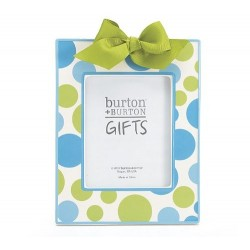 Dashing Dots Light Blue and Green Dot Ceramic Picture Frame