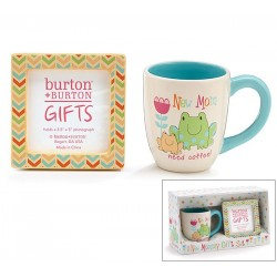 """New Mom Need Coffee"" Gift Set with Coffee Mug And Photo Frame"