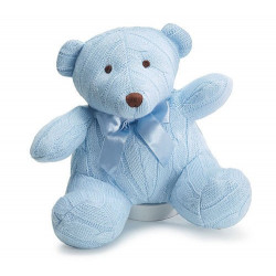 "Adorable 8"" Blue Knit Bear"
