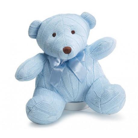"Adorable 8"" Blue Knit Bear"